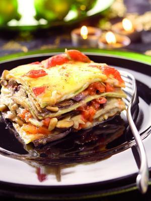 lasagne with aubergines and mozzarella