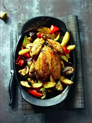 chicken with vegetables from the oven
