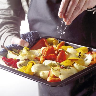 roasted vegetables in the oven