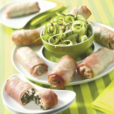 Greek spinach rolls