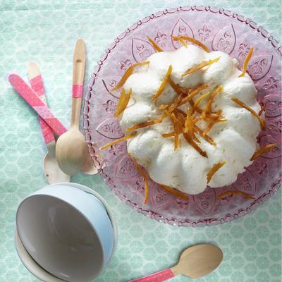 white chocolate mousse with orange