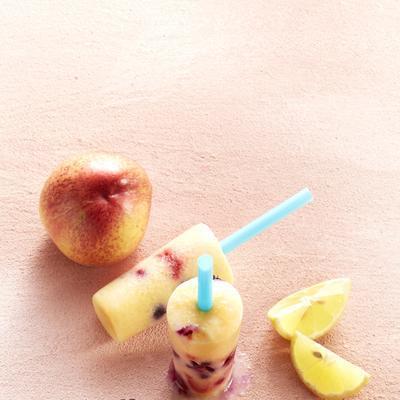 yoghurt ice cream nectarine lemon