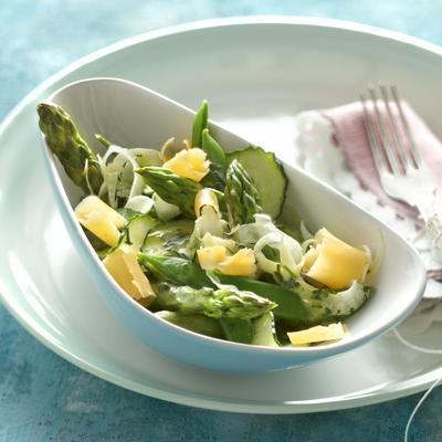 spring salad with lemon mustard dressing