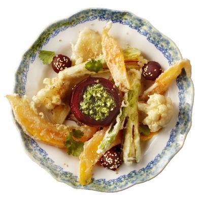 tempura of winter vegetables