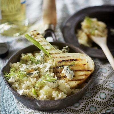 risotto with fennel and blue cheese