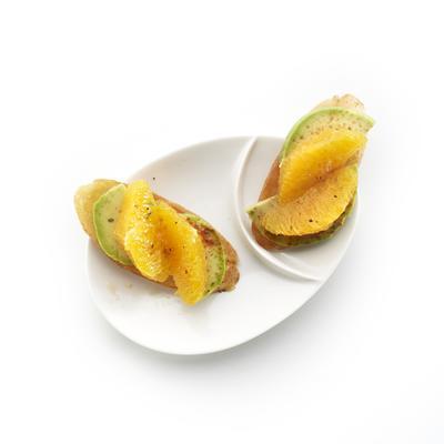 orange crostini