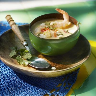 corn soup with shrimp