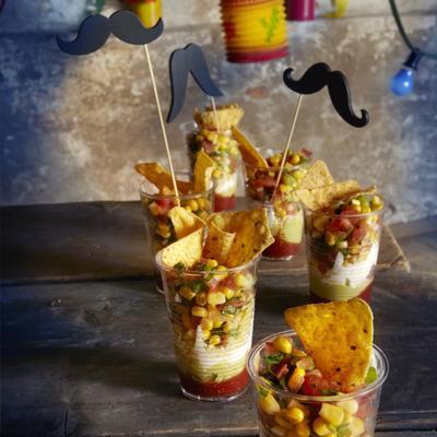 corn salsa with tortilla chips