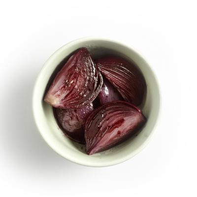 stewed onion in red wine
