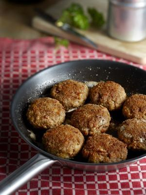 breaded meatballs with bacon