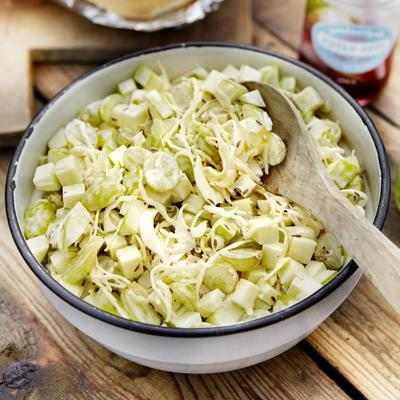 coleslaw with apple and grapes