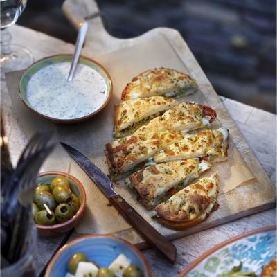 focaccia with mozzarella