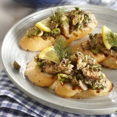 bruschetta with sardine salad