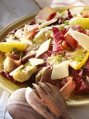 artichoke with radicchio and balsamic dressing