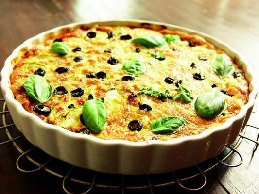 casserole of courgette and tomato