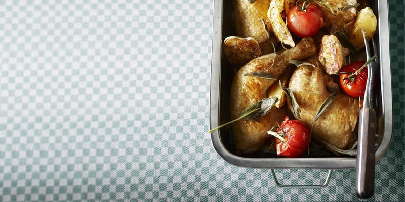 chicken with roasted garlic and lemon