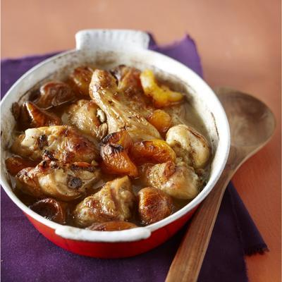 stewed chicken in sweet honey and spices sauce