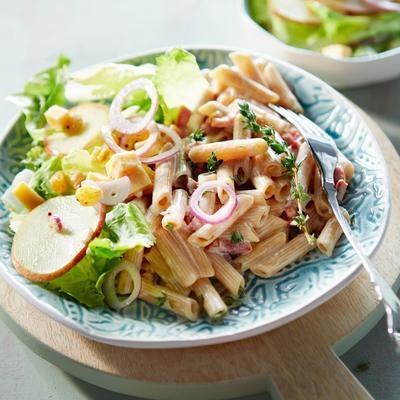 creamy bacon paste with endive salad