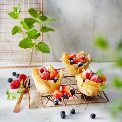 fruit salad bowls with mascarpone