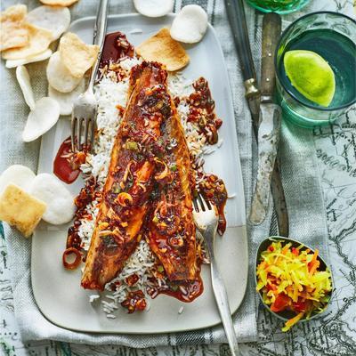 mackerel in sambal-ketjapsaus