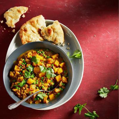 pumpkin-lentil curry