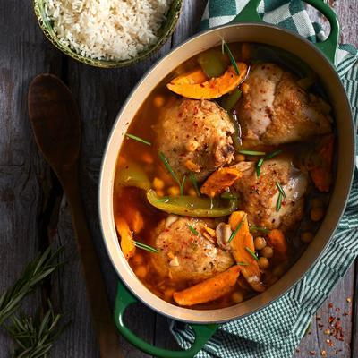 spicy stew with sweet potato and chicken