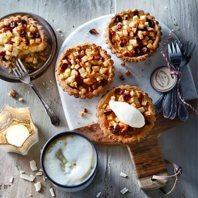 luxury apple-pear tarts