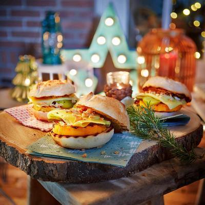 pumpkin cheeseburgers