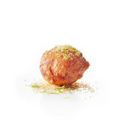 oliebollen with coconut and lime