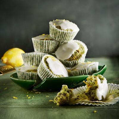 lemon-kale poppy-seed muffins