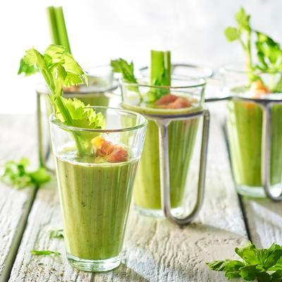 green smoothie with celery