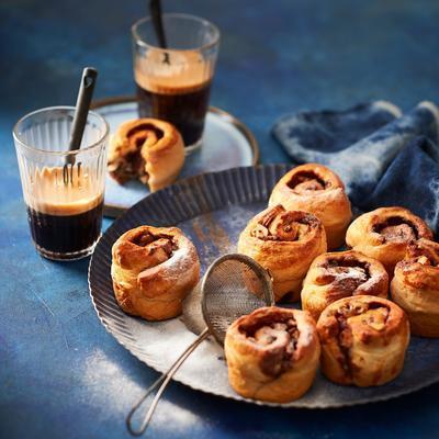 chocolate nut rolls