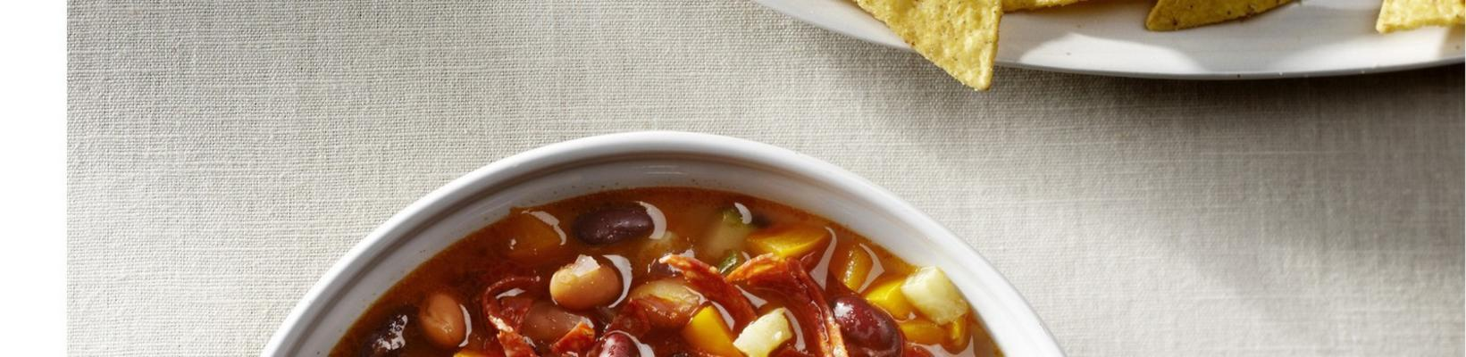 variegated bean soup with chorizo