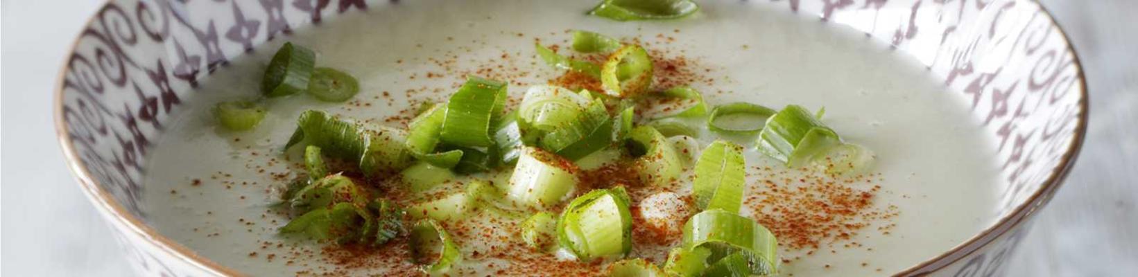 celeriac soup with red onion crostini