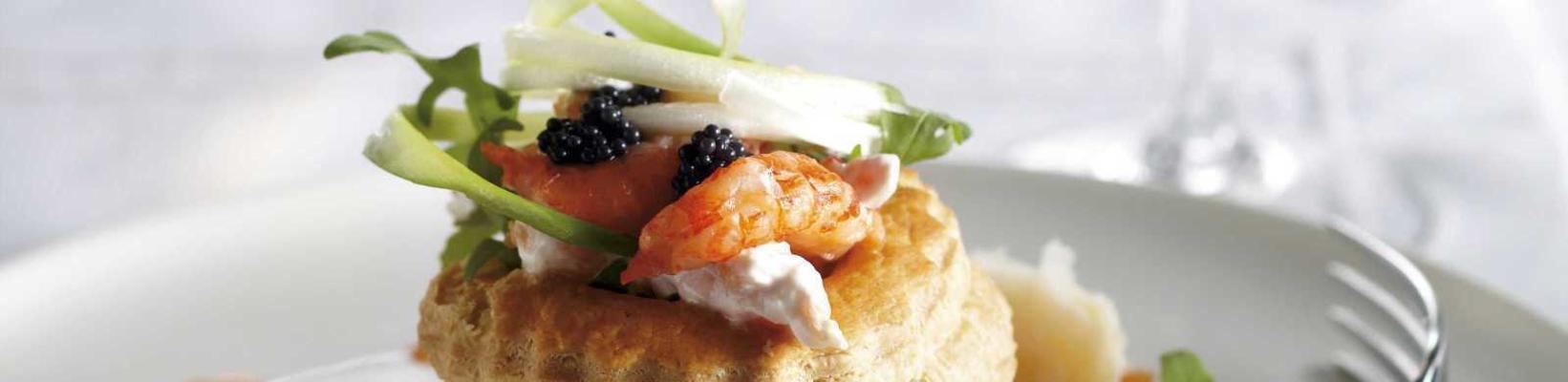 patties with crayfish salad