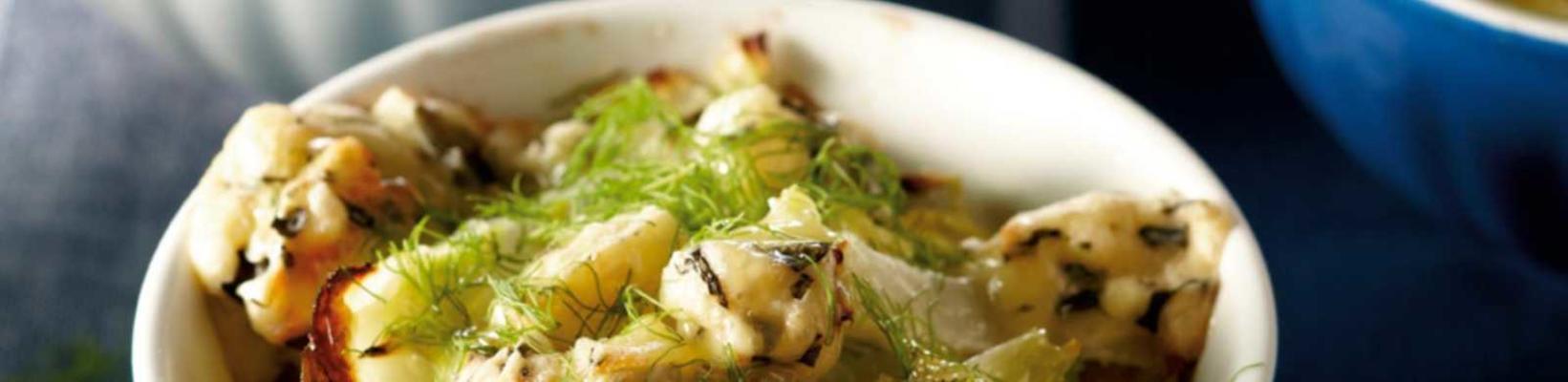scalloped fennel cabbage dish