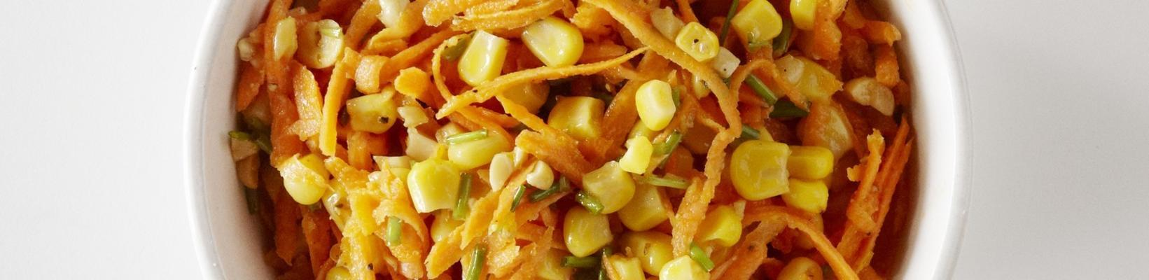raw carrot salad with corn