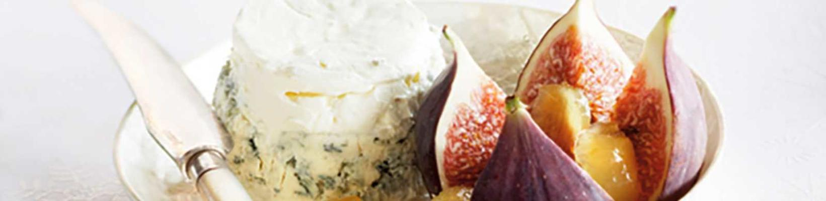 cream cheese cake with figs and ginger