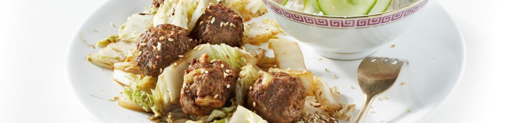 chinese cabbage with meatballs
