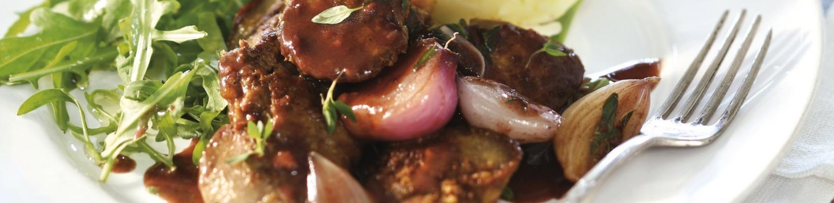 chicken liver in red wine
