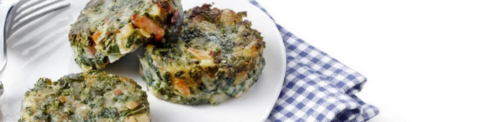 bubble and squeak of kale with bacon