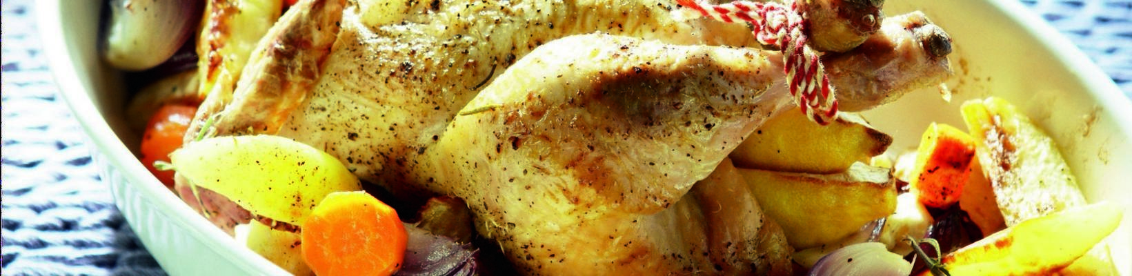chicken with roasted winter vegetables