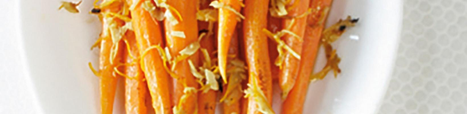 roasted carrots with ginger oil