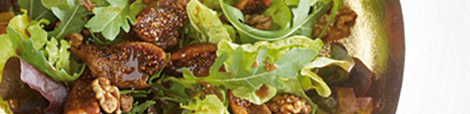 salad with figs and walnuts