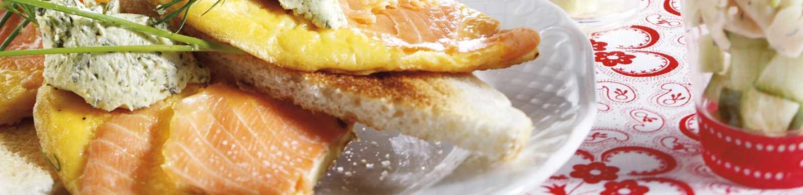 salmon omelette