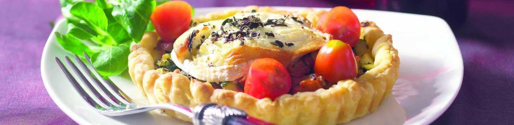 courgette pie with goat's cheese
