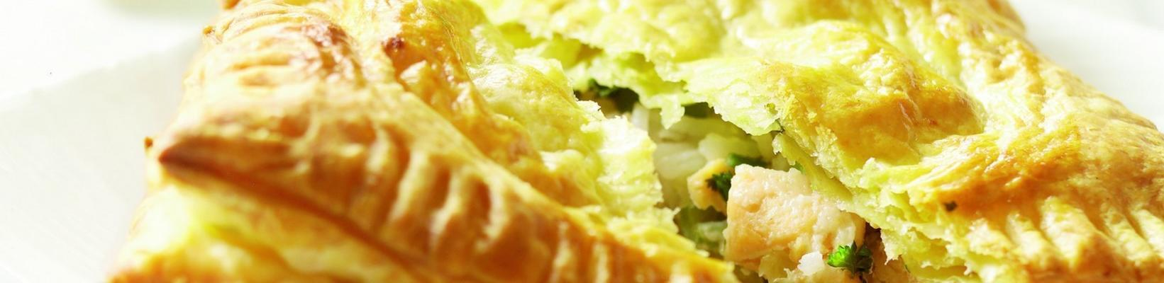 puff pastry packages with salmon