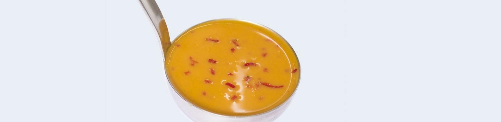pumpkin soup with anise sprig