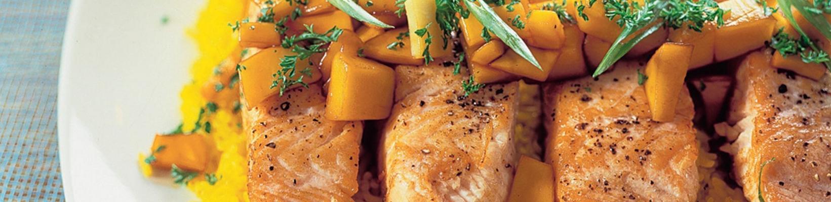 Asian salmon fillet with mango