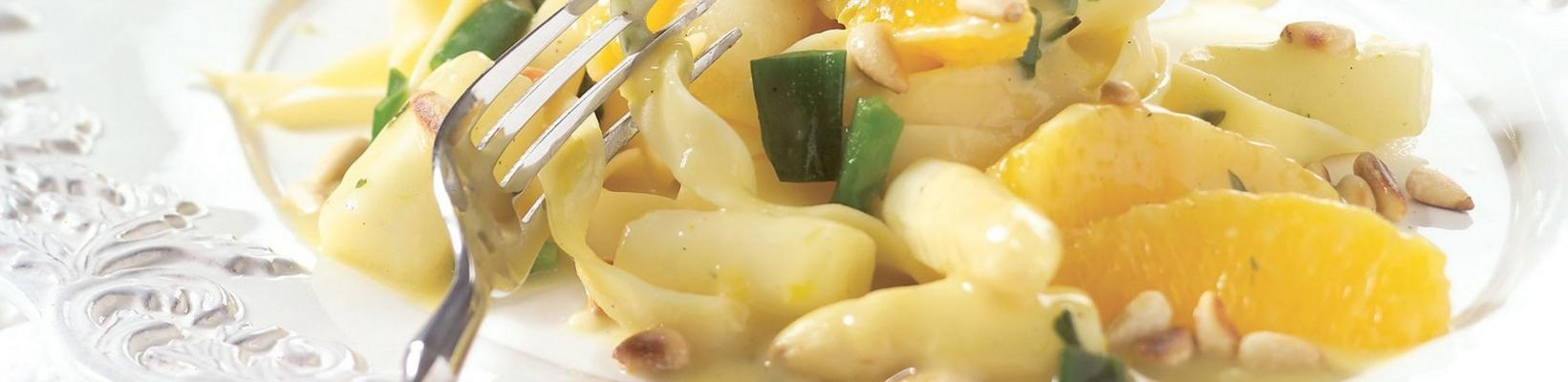pasta with asparagus and orange sauce